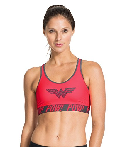 f4cf9b29c7 Under Armour Women s Alter Ego Pop Art Wonder Woman Sports Bra Large Neo  Pulse - Buy Online in UAE.
