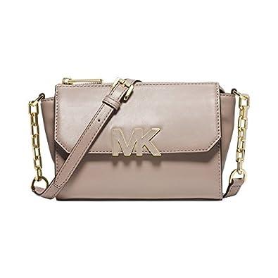 5489e38006a96 Amazon.com  Michael Kors Florence Mini Messenger Leather Crossbody ...