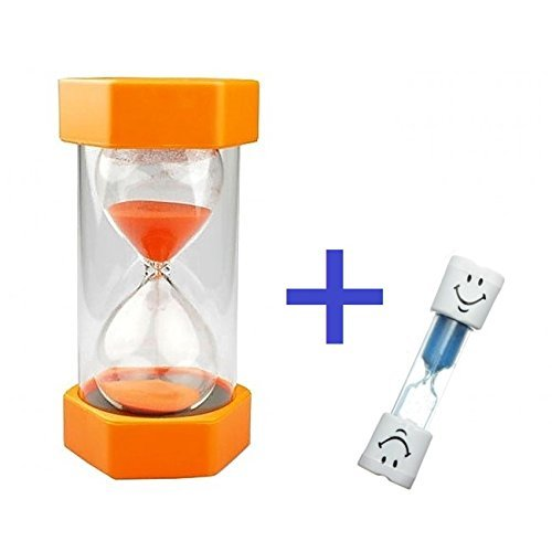 safe-simple-5-minute-sand-timer-bonus-blue-2-minute-toothbrush-timer-large-durable-orange-hourglass-