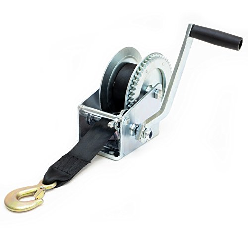 Driver Recovery Manual Hand Crank Trailer Winch with Hook and 20