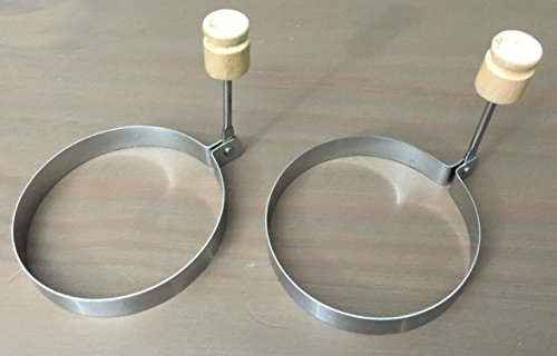 Egg Poacher Rings Stainless Steel Set - Cooking Pancakes Eggs Like a Master with Surgical Round Molds Perfect