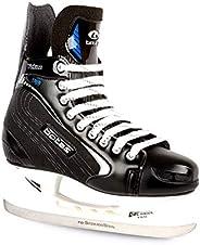 Botas - Yukon 381 - Men's Ice Hockey Skates | Made in Europe (Czech Republic) | Color: Black with Si