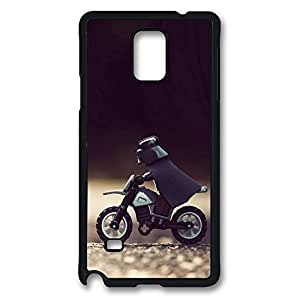 Galaxy Note 4 Case, Darth Vader Motorcycle Star Wars Lego Creativity Design Print Pattern Perfection Case [Anti-Slip Feature] [Perfect Slim Fit] Plastic Case Hard Black Covers for Samsung Galaxy Note 4