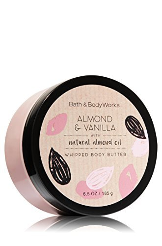 - Bath & Body Works 6.5 Ounce Whipped Body Butter Almond & Vanilla
