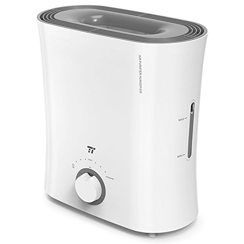 TaoTronics Top Fill Humidifiers, Evaporative Humidifier with Wick Filter, No Noise, Invisible Moisture for Instruments Guitar Room and Furnitures (2.5 L/0.66 gal, 110V)