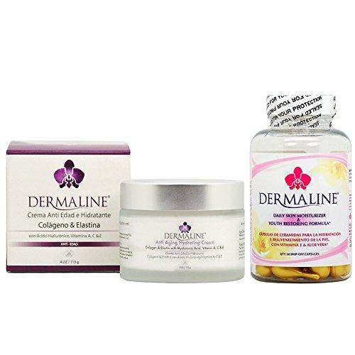 Dermaline Anti Aging Hydrating Cream 4oz + Ceramide Capsule 60cap