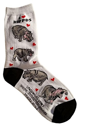 Love Hippos (I Love Hippos Gift Collection (Women Cotton Socks))
