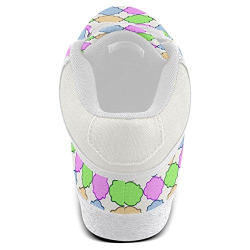 Artsadd Brillante Pastel Geométrico Quatrefoil Chukka Zapatos De Lona Para Hombres (model003)