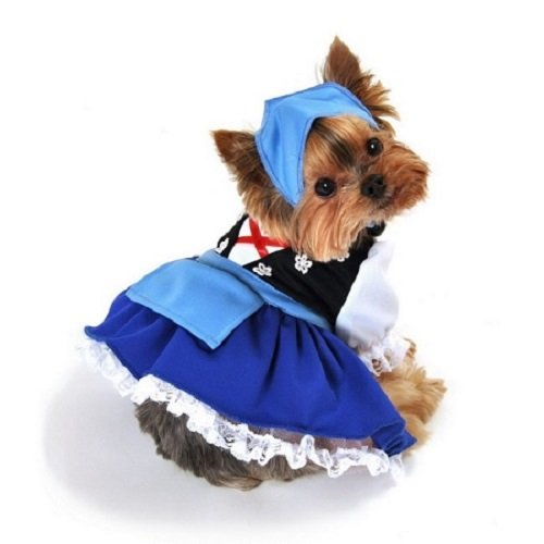 Domestic Pet Happy Halloween Oktoberfest Gretchen Beer Maiden Dog Costume -