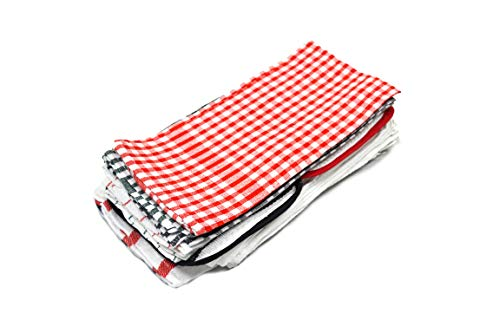 Home Basics 33001 Kitchen Utility Dish Towel Set, Assorted (Pack of 20)