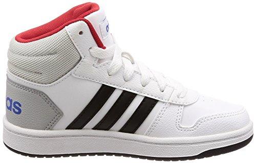 adidas Vs Hoops Mid 2.0, Zapatillas Altas Unisex Niños Blanco (Ftwbla/Negbas/Escarl 000)