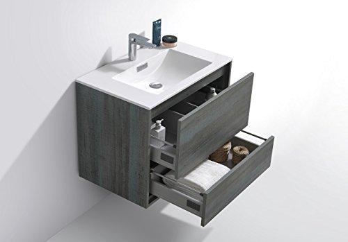 """De Lusso 30"""" Ocean Gray Wall Mount Modern Bathroom Vanity -  - bathroom-vanities, bathroom-fixtures-hardware, bathroom - 41a6n9hU6NL -"""