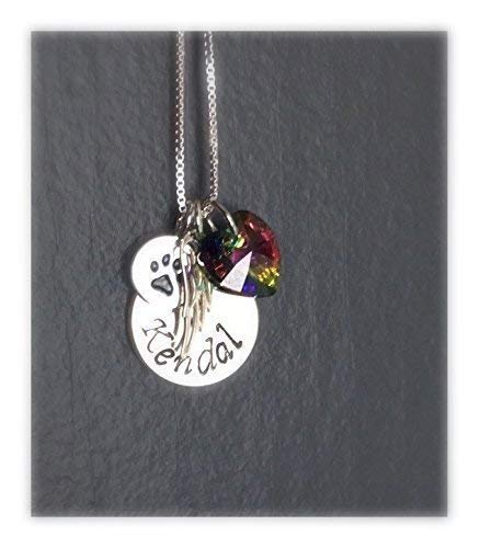 Pet Loss Memorial Necklace Personalized
