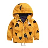 Baby Toddler Girls Boys Winter Fall Clothes Hooded Jacket Coat 1-5 Years Old,Fashion Kids Katon Zipper Outerwear (18-24 Months, Yellow)
