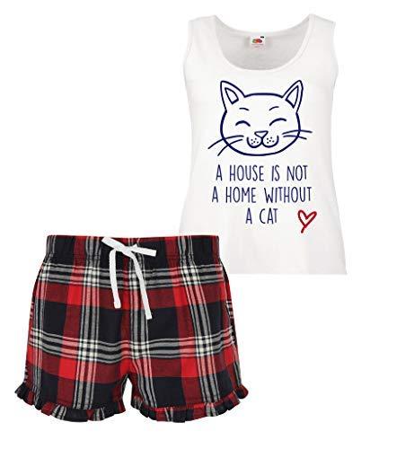 Sans Volants N'est A Ensemble Rouge Pas Un Makeover Second Écossais Pyjama Domicile 60 Femmes Vert À House Chat Limited Court Bleu Cw68Bqt