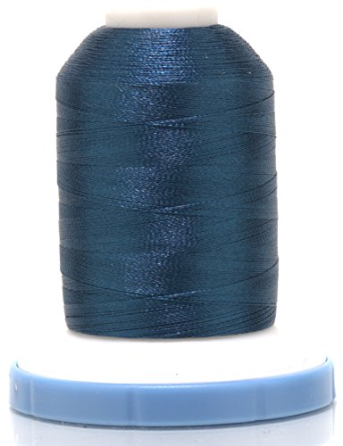 (OPW Machine Embroidery Thread with Matching Bobbin (YALE BLUE) - Free Bonus Embroidery Designs.)