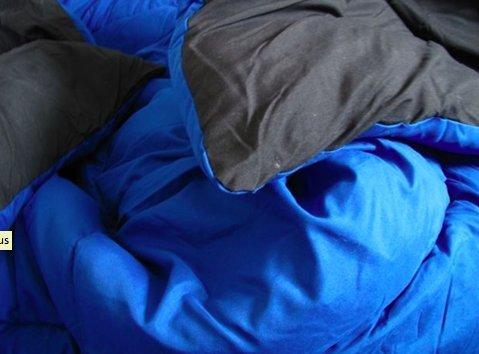 Black/Blue Reversible Comforter - Twin XL Twin Extra Long