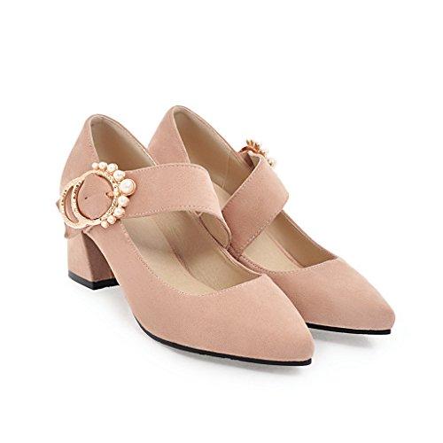 Flache der Mund Frauen Schuhe amp;X Block Schuhe QIN CXQ Heels 0CqPv