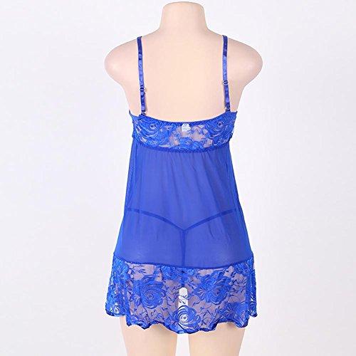Myhope Donna lingerie cinturino filo camicia da notte filati maglia tentazione Plus Size , 3xl