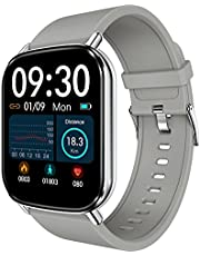 HalfSun Fitness Tracker, 2021 Upgrade Customize Face Smart Watch Fitness Watch with Heart Rate Blood Pressure Sleep Monitor, IP68 Waterproof Sport Watch with 10 Sport Modes Weather Forecast