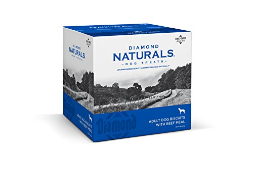 (Diamond Naturals Adult Natural Biscuit Dog Treat with Real Beef Protein 19lb)