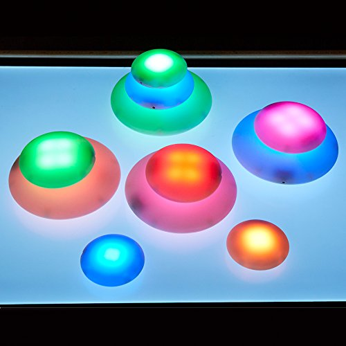 TTS Illuminated Sensory Glow Pebbles | Rechargeable Docking Station - Pack of 12