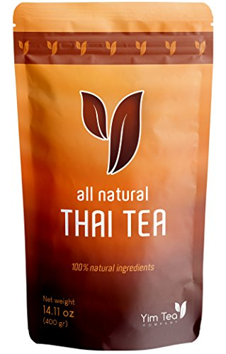 Thai Tea - 100% Natural Loose Leaf Tea Mix - Made with Assam Black Tea - Makes Iced Tea and Boba Tea - By Yim Tea Co. (400g) (Best Thai Tea Mix)