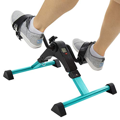 Hand Pedal - Vive Desk Cycle - Foot Pedal Exerciser - Foldable Portable Foot, Hand, Arm, Leg Exercise Pedaling Machine - Folding Mini Stationary Bike Pedaler, Fitness Rehab Gym Equipment for Seniors, Elderly, PT