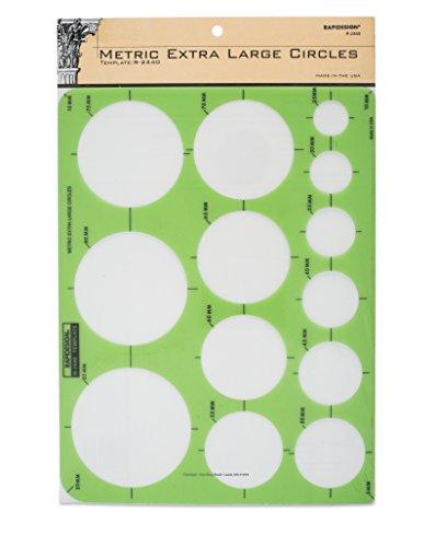 Rapidesign Metric Extra-Large Circles Template, 1 Each (Large Circles Template)