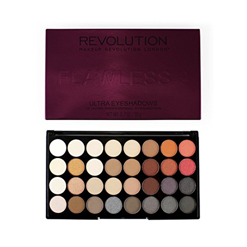 Make Up Revolution Ultra 32 Shades Eyeshadow Palette - FLAWL