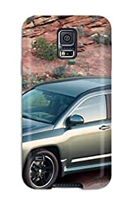 Unique Design Galaxy S5 Durable Tpu Case Cover 2005 Jeep Compass Grey Mountains Brown Road Cars Other