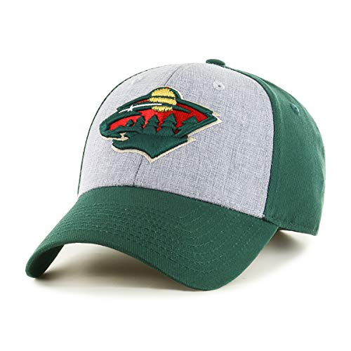 OTS NHL Minnesota Wild Male Essential All-Star Adjustable Hat, Dark Green, One Size