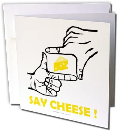 3dRose Yellow Swiss Cheese Slice Wedge Illusion Greeting Cards 6 x 6 Set of 6 gc/_58371/_1
