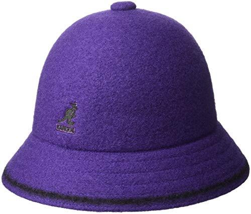 Kangol Men's Stripe Casual Bucket HAT, Velvet/Black, L