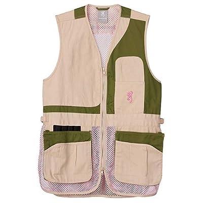 Browning Women's Trapper Creek Mesh Shooting Vest-Sage/Tan/Pink