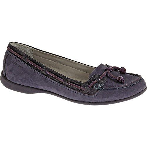 Sebago Women's Felucca Lace,Purple Nubuck/Metallic Suede,US 7 M