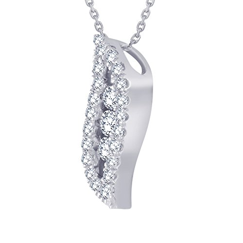 Giantti Diamant Pendentif Femme Collier (0,18 CT, VS Clarté, Gh-colour)