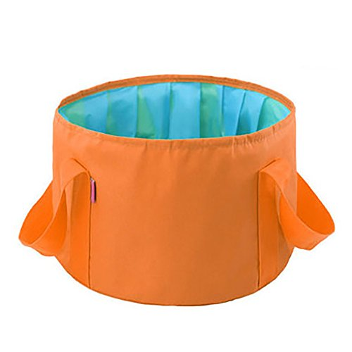 AI Collapsible Travel with A Trip Out of The Footbath Home Foot Bath Travel Portable Thickening Large-Capacity Washbasin Outdoor Bucket Fruit Bowl Travel Supplies 27 * 31 * 18cm (Color : Orange)