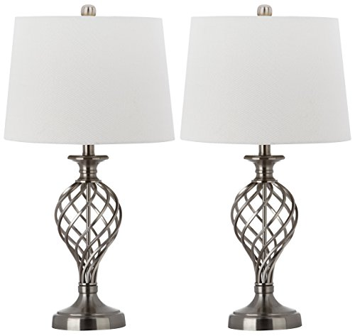 llection Lattice Urn Nickel 26.75-inch Table Lamp (Set of 2) ()