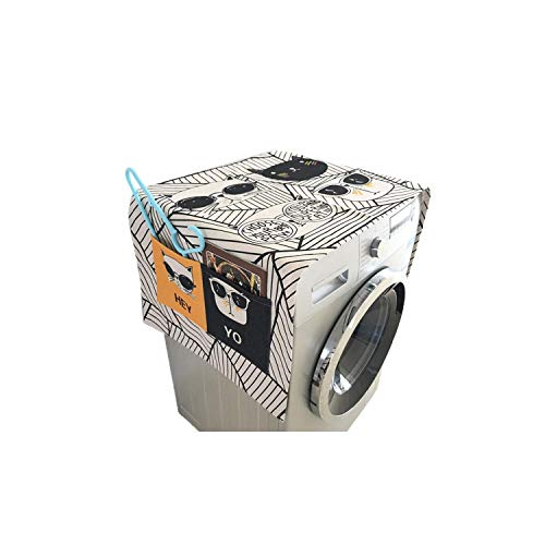 Dust Cover Roller Washing Machine Cover Cartoon Animal Pattern Multicolor Dust Square Proof Covers,Bxt-8,Does Not Apply