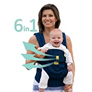 SIX-Position, 360° Ergonomic Baby & Child Carrier by LILLEbaby – The COMPLETE Airflow (Navy)