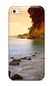 Tpu Shockproof/dirt-proof Rocky Coastline Cover Case For Iphone(5c)