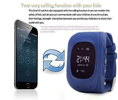 Reloj Inteligente niño, Telefono Reloj Inteligente niña Smart Watch Phone LBS/GPS localizador SOS Anti-Lost Alarm Smartwatch Reloj de Pulsera: Amazon.es: ...