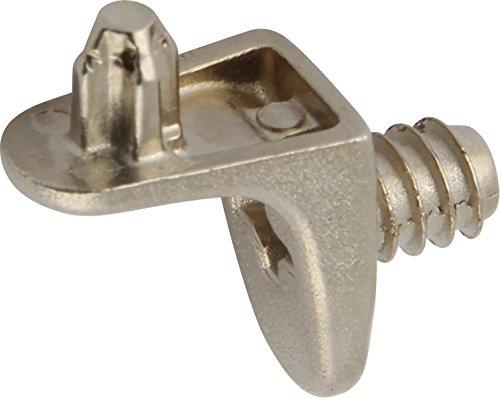 /Étag/ère Plug dans avec filetage pour /Ø 5/mm trous/ Pack de 10 /Nickel plaqu/é /Finition/