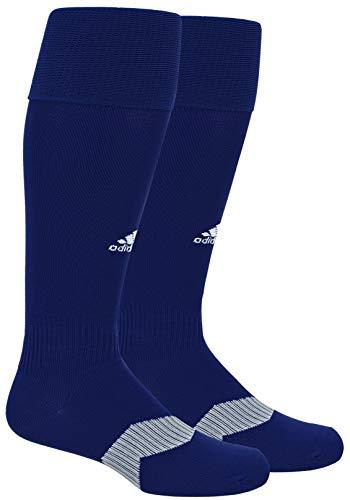 adidas Unisex Metro IV OTC Soccer Sock (1-Pair), Dark Blue/White/Clear Grey, 9C-1Y