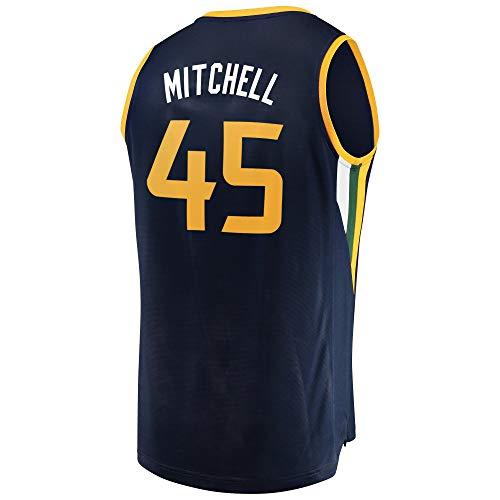 Men/Youth_Donovan_Mitchell_#45_Basketball_Fans_Jerseys_Navy_Game_Jersey ()