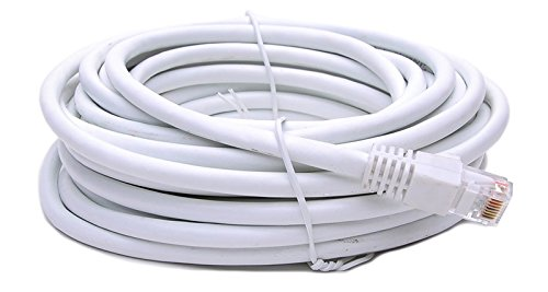 BattleBorn 75 Foot Copper CAT6a Ethernet Network Patch Cable 24AWG 550MHz (White) BB-C6AMB-75WHT