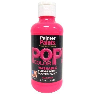 Palmer 56093-6 Prism Tempera Neon Poster Paint, 8 oz, Pink (Palmer Prism Acrylic Paint)