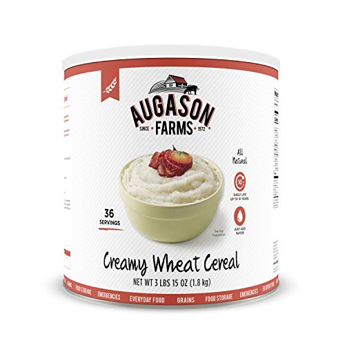Augason Farms Creamy Wheat Cereal 3 lbs 15 oz (1.8 kg) Can (Pack of ()