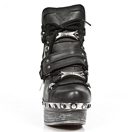 Nuovi Stivali Di Roccia M.z011-c7 Gotiche Damen Hardrock Punk Highheel Stiefelette Schwarz